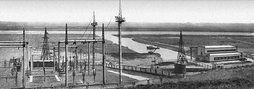 Николаевская область. Главная насосная станция и электроподстанция Южно-Бугской оросительной системы. Николаевская область.