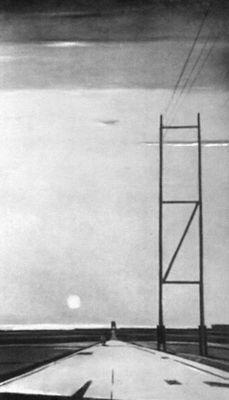 Г. Г. Нисский. «Подмосковная рокада». 1957. Львовская картинная галерея. Нисский Георгий Григорьевич.