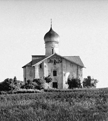 Церковь Благовещения в Аркажах. 12 в. Новгород.