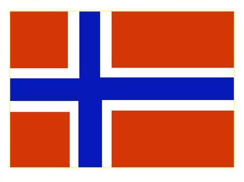 Флаг государственный. Норвегия. Норвегия.