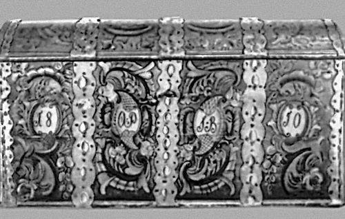 Сундук с цветочной росписью. Телемарк. 1810. Норвегия.