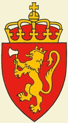 Государственный герб Норвегии. Норвегия.
