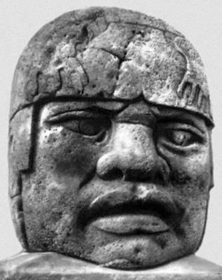 Голова из Сан-Лоренсо. Базальт. Веракрусский музей антропологии. Халапа. Ольмекская культура.