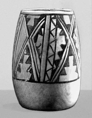 Глиняная кружка из Кара-Тепе. Конец 4-го — 1-я половина 3-го тыс. до н. э. Эрмитаж. Ленинград. Орнамент.