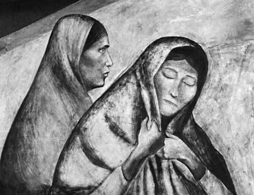 Х. К. Ороско. «Рабочий класс». Фреска в Национальной подготовительной школе в Мехико. 1922—27. Фрагмент. Ороско Хосе Клементе.