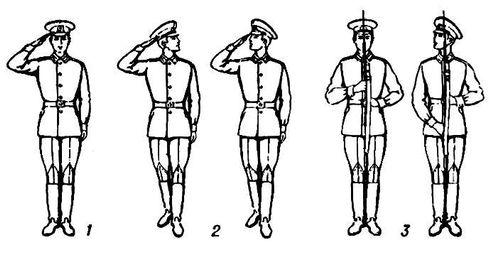 Как правильно отдавать честь