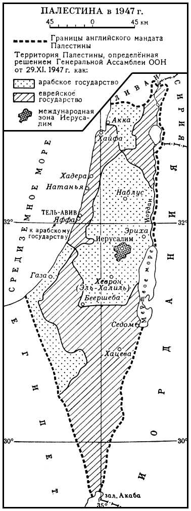 Палестина в 1947 году. Палестина.