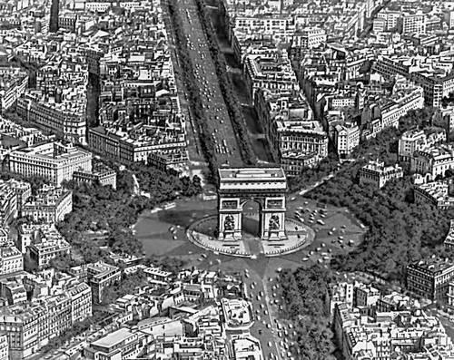 Париж. Площадь де Голля с триумфальной аркой (1806—37, архитектор Ж. Ф. Шальгрен). Париж.