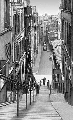 Париж. Улица на Монмартре. Париж.