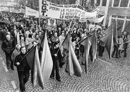 Демонстрация рабочих Парижа 26 окт. 1972. Париж.