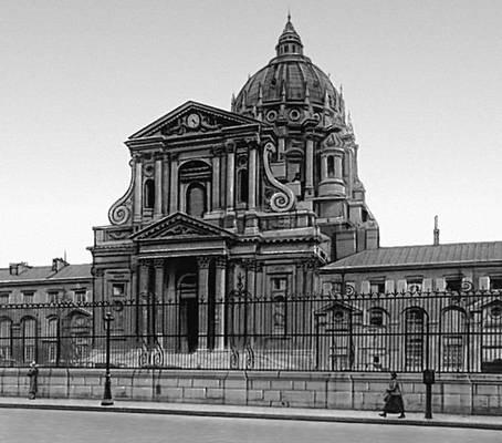 Монастырь Валь-де-Грас. 1645—1710. Архитекторы Ф. Мансар, Ж. Лемерсье, Г. Ледюк. Париж.