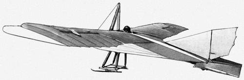 Рис. 1. Планёр А-5 конструкции К. К. Арцеулова. 1923. Планёр.