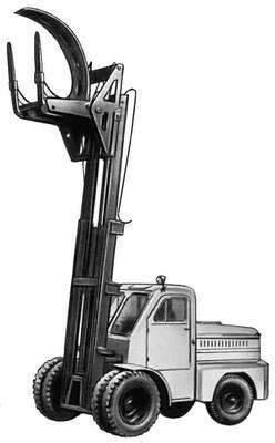 Основные виды погрузчиков: б — специальный автопогрузчик для длинномерных грузов. Погрузчик.