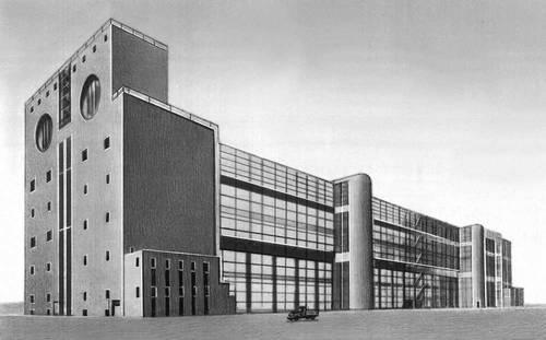 Г. П. Гольц и др. Прядильная фабрика в Ивантеевке Московской области. 1927—28. Промышленные здания.