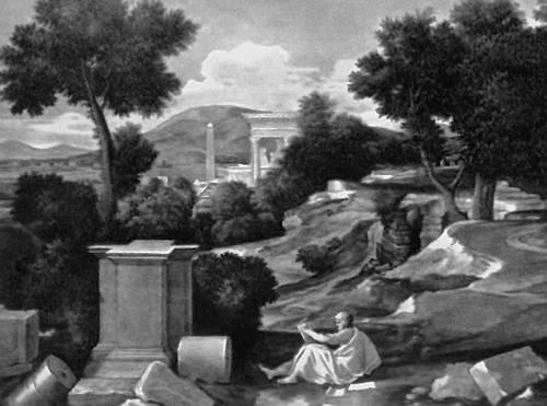 Пуссен Н. «Св. Иоан на Патмосе». Около 1644—45. Институт искусств Чикаго. Пуссен Никола.