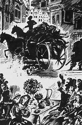 А. С. Пушкин. «Пир во время чумы». Илл. А. И. Кравченко. 1937. Пушкин Александр Сергеевич.