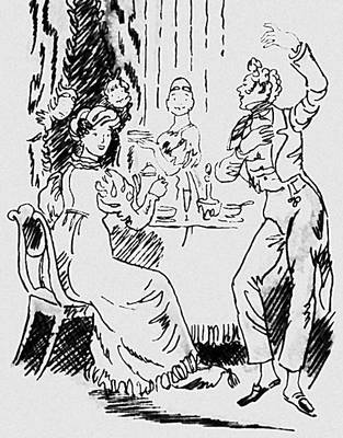 А. С. Пушкин. «Граф Нулин». Илл. Н. В. Кузьмина. 1957. Пушкин Александр Сергеевич.