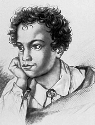 А. С. Пушкин. Гравюра художника Е. Гейтмана. 1822. Пушкин Александр Сергеевич.
