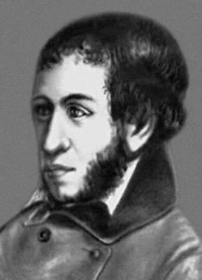 А. С. Пушкин, портрет работы И. Л. Линёва, 1836 (?). Пушкин Александр Сергеевич.