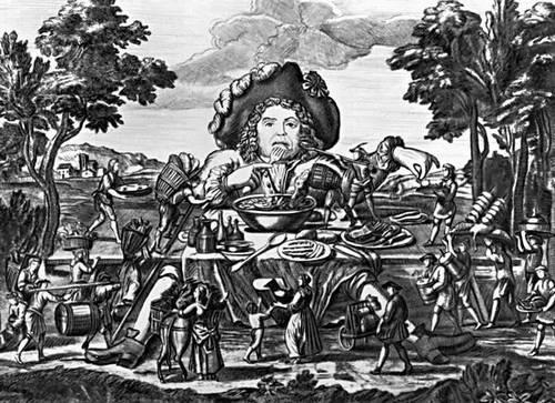 Ф. Рабле. «Гаргантюа и Пантагрюэль».Гравюра Ш. Дюмонтье. 2-я пол. 18 в. Рабле Франсуа.
