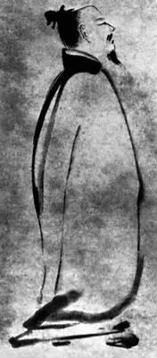 Лян Кай (Китай). «Поэт Ли Бо». Тушь. 12 — нач. 13 вв. Национальный музей. Токио. Рисунок.