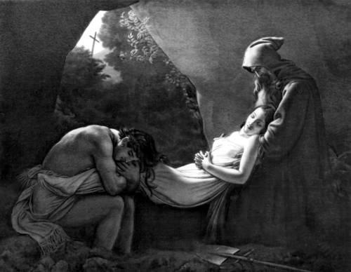 А. Л. Жироде-Триозон. «Погребение Аталы». 1808. Лувр, Париж. Романтизм.