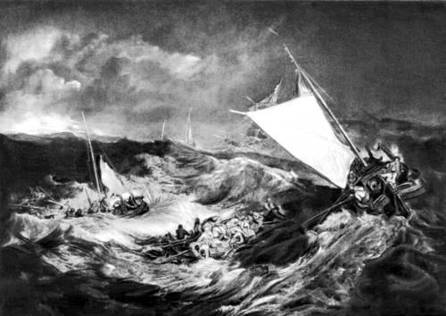 Дж. М. У. Тёрнер (Англия). «Кораблекрушение». 1805. Галерея Тейт, Лондон. Романтизм.
