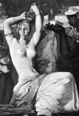Т. Шассерио. «Туалет Эсфири». 1842. Фрагмент. Лувр, Париж. Романтизм.