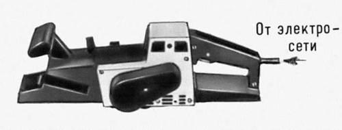 Рис. 5. Электрический ручной рубанок. Ручные машины.
