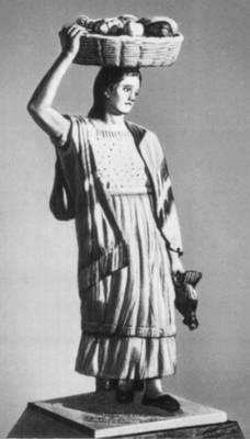 Сальвадор. Н. Ночес Авенданьо. «Крестьянская девушка из Кускатлеки». Раскрашенное дерево. 20 век. Сальвадор.