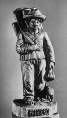 Сальвадор. Х. Агилар Гусман. «Продавец циновок». Дерево. 20 век. Сальвадор.