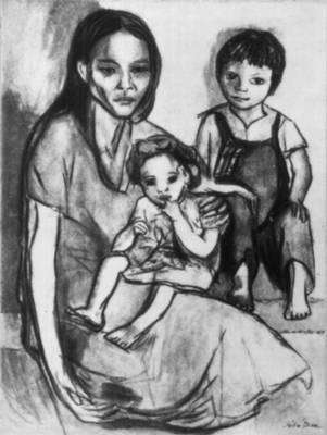 Сальвадор. Х. Диас. «Этюд». 20 век. Сальвадор.
