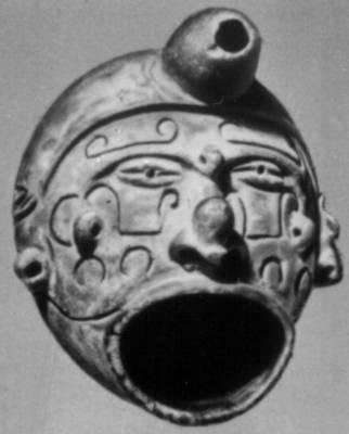Сальвадор. Керамический сосуд. Древний период. Музей американских индейцев. Нью-Йорк. Сальвадор.