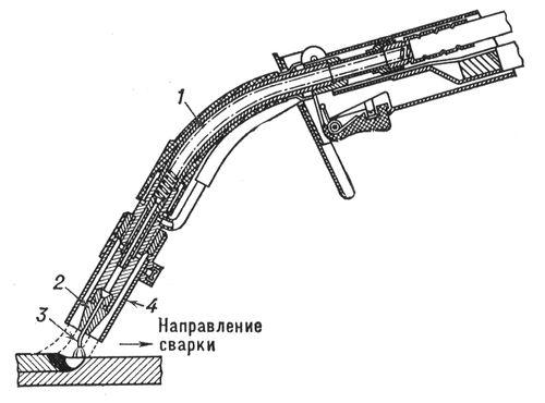 Горелка для полуавтомата чертежи