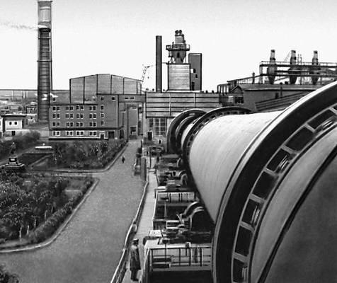 Семипалатинская область. На Семипалатинском цементном заводе. Семипалатинская область.
