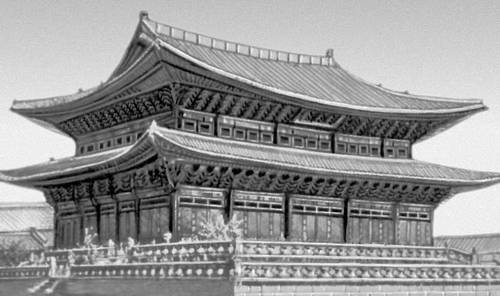 Павильон дворца Кёнбоккун в Сеуле (1394). Сеул.