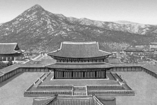 Тронный зал дворца Кёнбоккун в Сеуле.. Сеул.