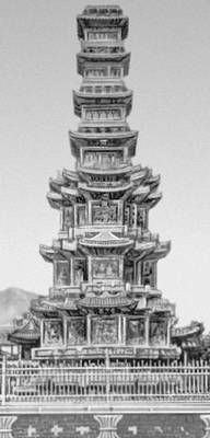 Пагода монастыря Вонгакса в Сеуле. 1467. Сеул.