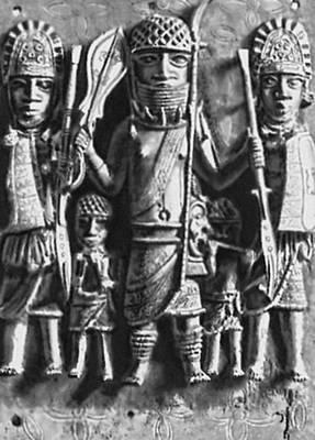 Скульптура. «Священная процессия». Бронзовая плакетка (из Бенина, Нигерия). 16 в. Музей человека. Париж. Скульптура.