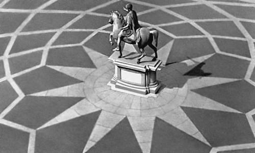 Конная статуя императора Марка Аврелия. Бронза. 161—180. Установлена Микеланджело в 1538 на пл. Капитолия в Риме. Скульптура.