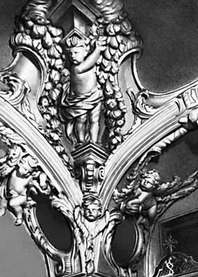 Скульптура. Деталь лепного декора церкви архангела Гавриила (т. н. Меньшиковой башни) в Москве. Гипс. 1704—07. Скульптура.