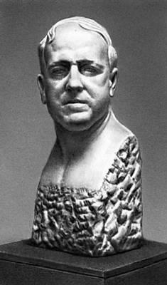 Скульптура. В. И. Мухина. «А. А. Замков». Мрамор. 1935. Третьяковская галерея. Москва. Скульптура.