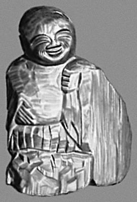 Скульптура. Энку (Япония). «Отшельник». Дерево. 17 в. Храм Каннондзи. Нагоя. Скульптура.