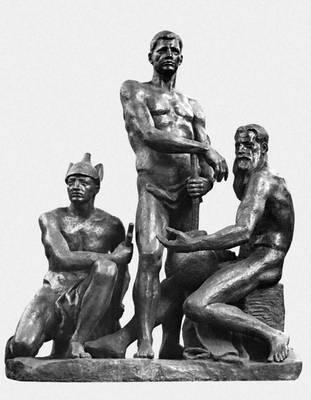 А. Т. Матвеев. «Октябрь». 1927 (бронзовый отлив — 1958). Русский музей. Ленинград. Скульптура.
