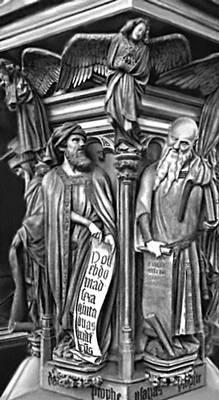 Скульптура. Клаус Слютер и Клаус де Верве (Бургундия). «Колодец пророков» в Дижоне. Камень. Около 1395—1406. Скульптура.