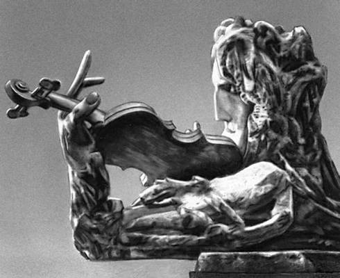 Скульптура Т. Конёнков. «Паганини». Дерево. 1906. Русский музей. Ленинград. Скульптура.