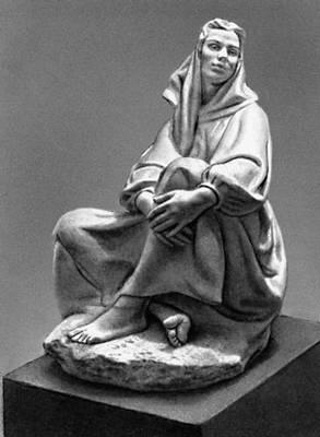 Скульптура. Е. Ф. Белашова. «Мечтание». Мрамор. 1957—58. Третьяковская галерея. Москва. Скульптура.