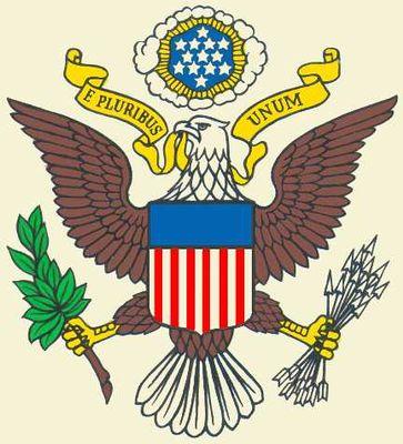 Государственный герб Соединённых Штатов Америки. Соединённые Штаты Америки.