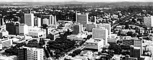 Солсбери. Вид части города. Солсбери (город в Родезии).