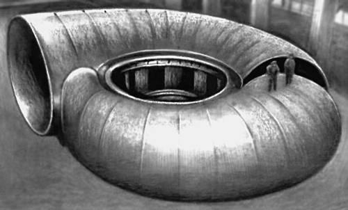 Сборка сварной спиральной камеры. Спиральная камера гидротурбины.